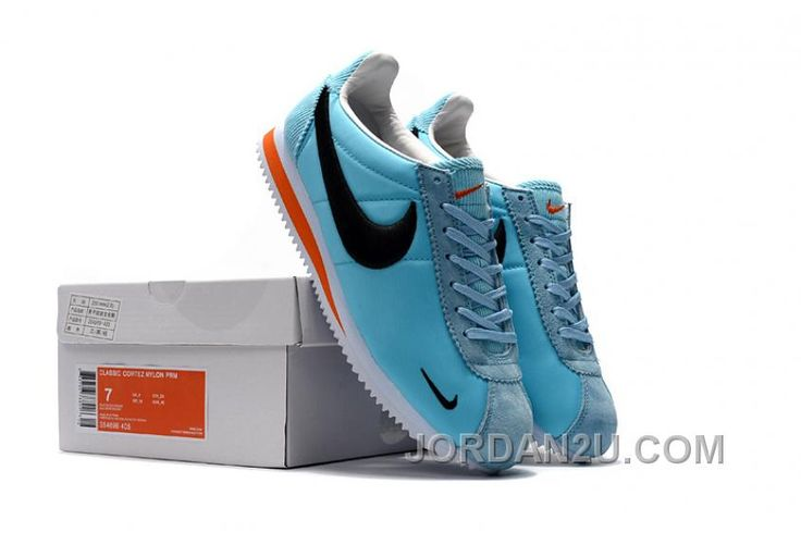 NIKE CORTEZ NYLON PRM Blue Embroidery Top Deals 4C64X