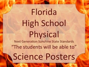 Florida High School HS Physical Science Standards Posters NGSSS