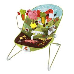 How Now Brown Cow Baby Bouncer $29.00. My daughter has used this most of anything. She slept in it after being sick to stay elevated, and is handy to move around the house with you.