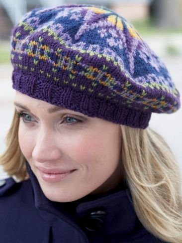 Fair Isle Tam | Yarn | Free Knitting Patterns | Crochet Patterns | Yarnspirations