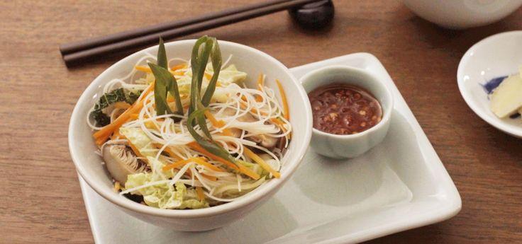 Fideos de arroz asiáticos
