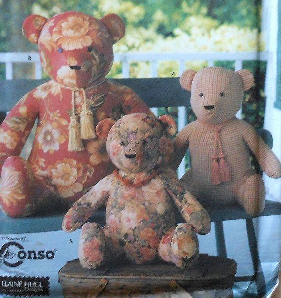 Sitting Teddy Bear Sewing Pattern Uncut Simplicity 9444 19