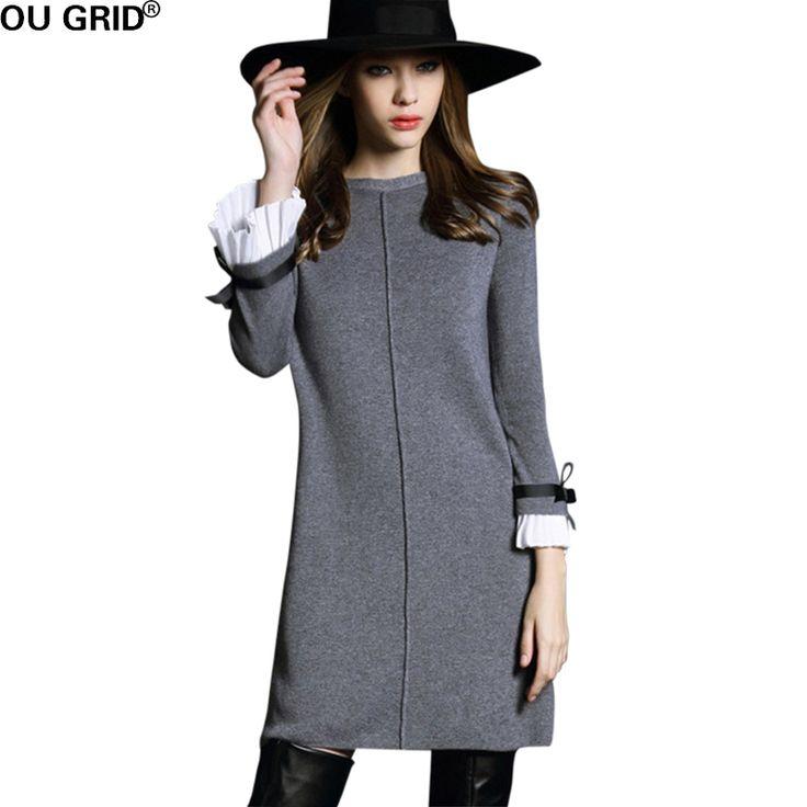 Long dress hitam lengan panjang garis