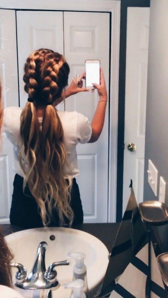 20 einfache und leichte tägliche Frisuren für lange Haare Schönheiten, # Sch…