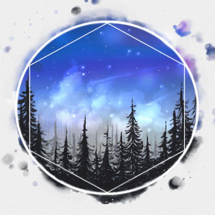 eine Illustration von mir. wood universe illustration wald universum