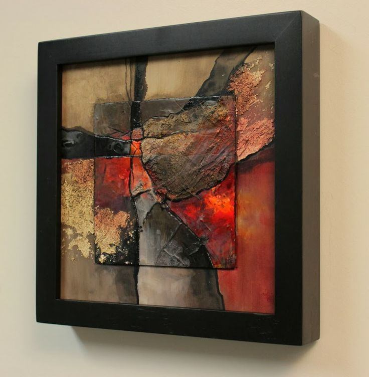 CAROL NELSON FINE ART BLOG--love this piece, it reminds me of volcanoes and rocks