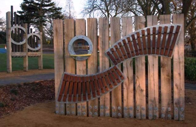 recycle playground music | outdoor musical installations