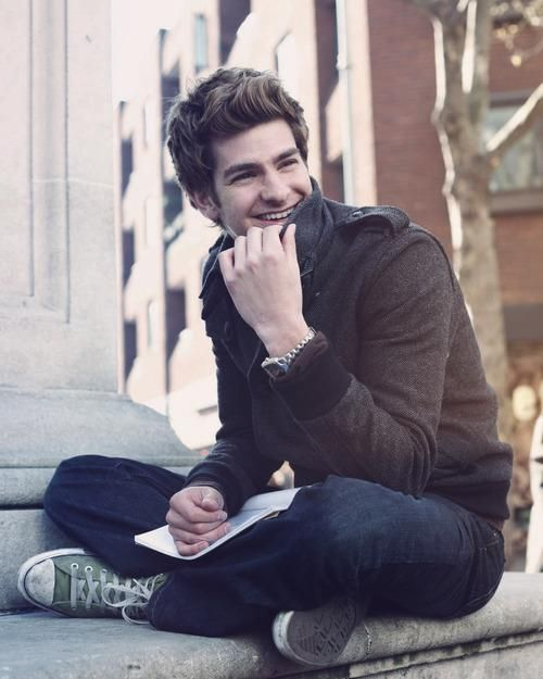 ((FC: Andrew Garfield)) Hey, I'm Andrew. I'm 18 and single. I'm outgoing. I'm cousins with Chris and Selena. I like to play football and basketball. Intro?