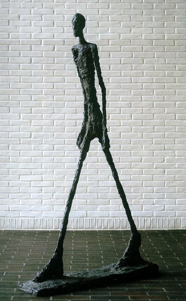 Alberto Giacometti (10 October 1901 – 11 January 1966) was a Swiss sculptor, painter, draughtsman, and printmaker. Giacometti was a key player in the Surrealist art movement, but his work resists easy categorization. Some describe it as formalist, others argue it is expressionist or otherwise having to do with what Deleuze calls 'blocs of sensation.'