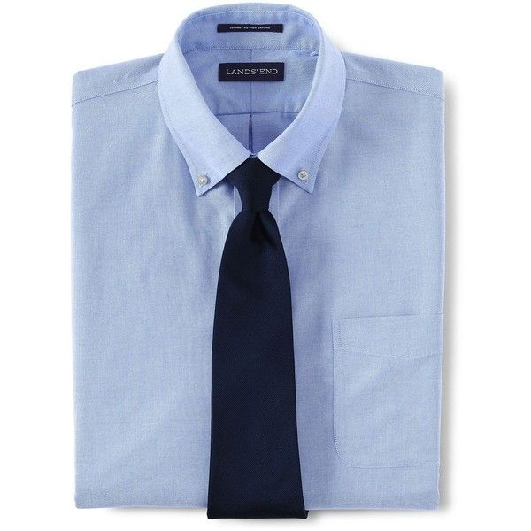 Lands' End Men's Big & Tall No Iron Traditional Fit Supima Oxford... (30.720 CRC) ❤ liked on Polyvore featuring men's fashion, men's clothing, men's shirts, men's dress shirts, blue, mens dress shirts, mens big and tall dress shirts, lands end mens shirts, mens blue dress shirt and mens oxford dress shirts