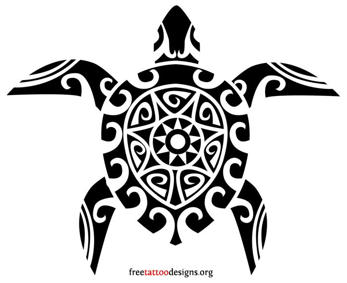 Free Tribal Turtle Tattoo Design