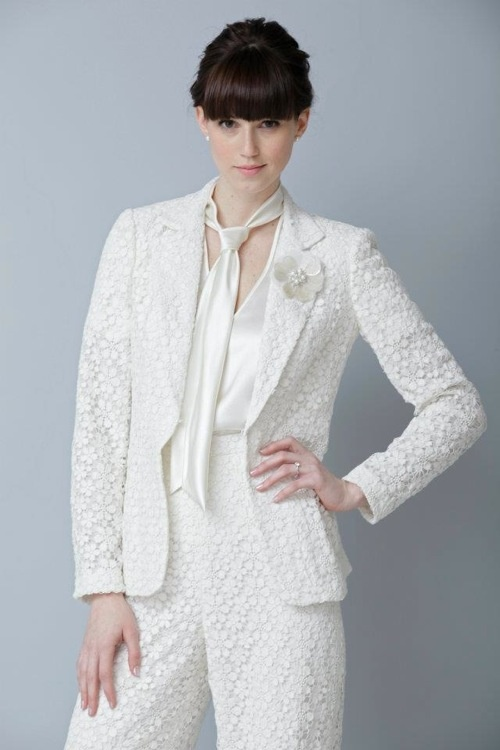 White Pants Suit For Wedding. Medium Size Of Wedding Dress Design ...