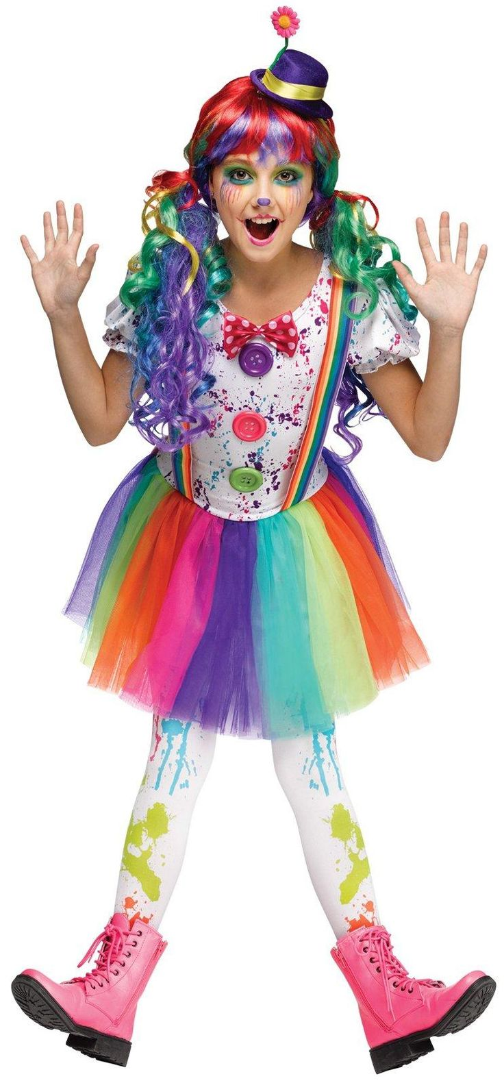 Kids Crazy Color Clown Costume from Buycostumes.com