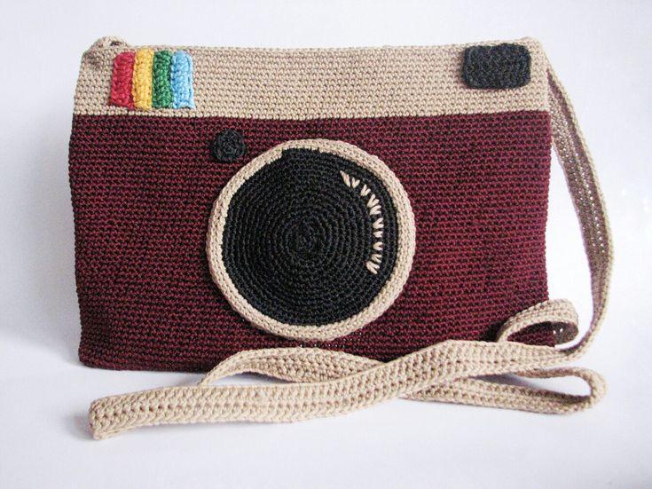 Camera inspired crochet sling bag Made by soedja Rajut