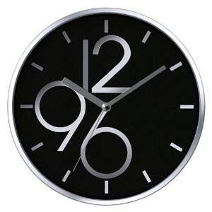 Sharp Shimmer Non-Ticking Silent Wall Clock - it's not the style that makes it attractive - it's that it won't make me mad with incessant ticking!