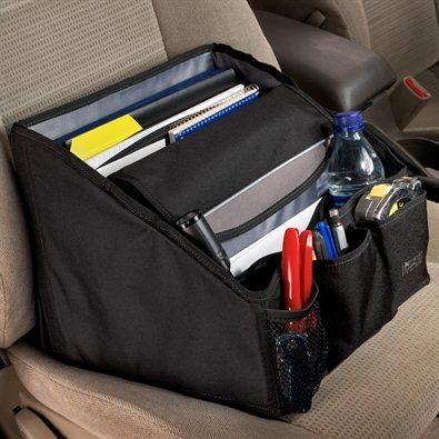 Ultimate Mobile Desk - Holds laptop, files, and other office items.  I know some real estate agents who could use this.