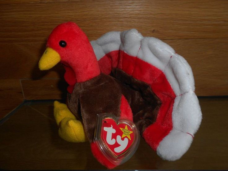 "Collectible Retired Rare 1996 Ty Beanie Baby ""Gobbles"" Turkey. Add Gobbles to your original beanie baby collection. Retired and RARE. Born November 27, 1996. 