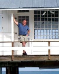 Books by Randy Wayne White take place in Sanibel Fl. & surrounds. What fun to read about Doc Ford's crime solving on the island and surrounding area, especially while vacationing there!