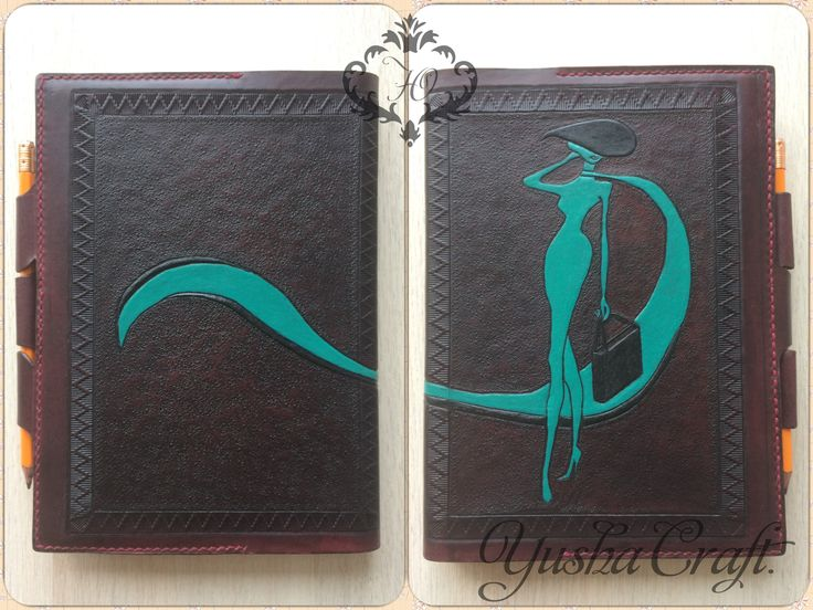 Leather, handmade Yusha Craft. Covers for notebooks Обложка для ежедневника