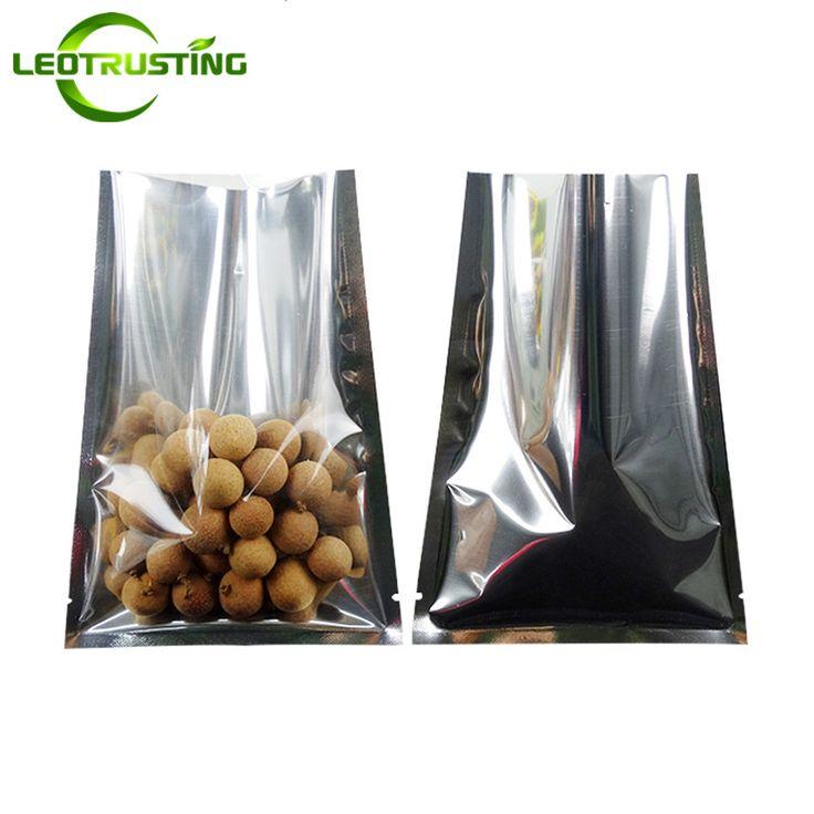 Leotrusting 100pcs One Side Clear Open Top Foil Vacuum Bag Plastic Food Nuts Snack Heat Seal Packaging Bag Foil Plastic Gift Bag #Affiliate