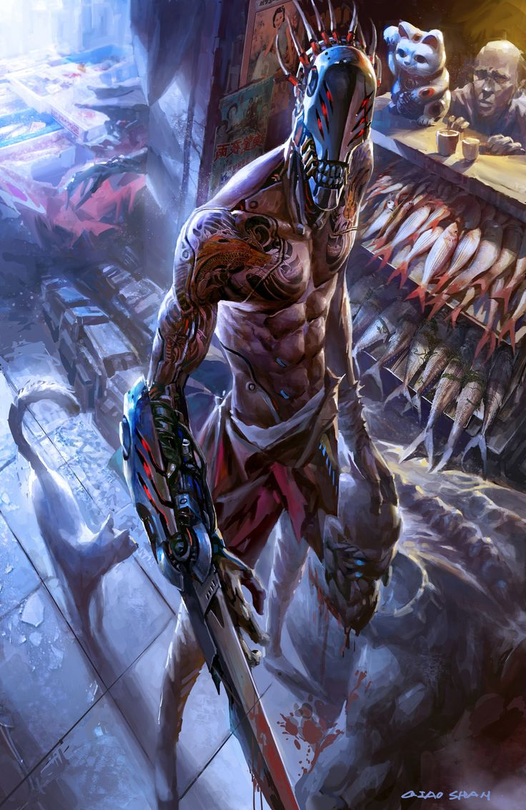 shan qiao artwork in 2020 Dark fantasy art, Cyberpunk