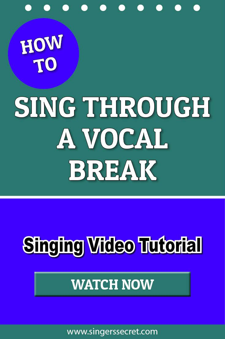 How To Sing Through A Vocal Break #singing #music