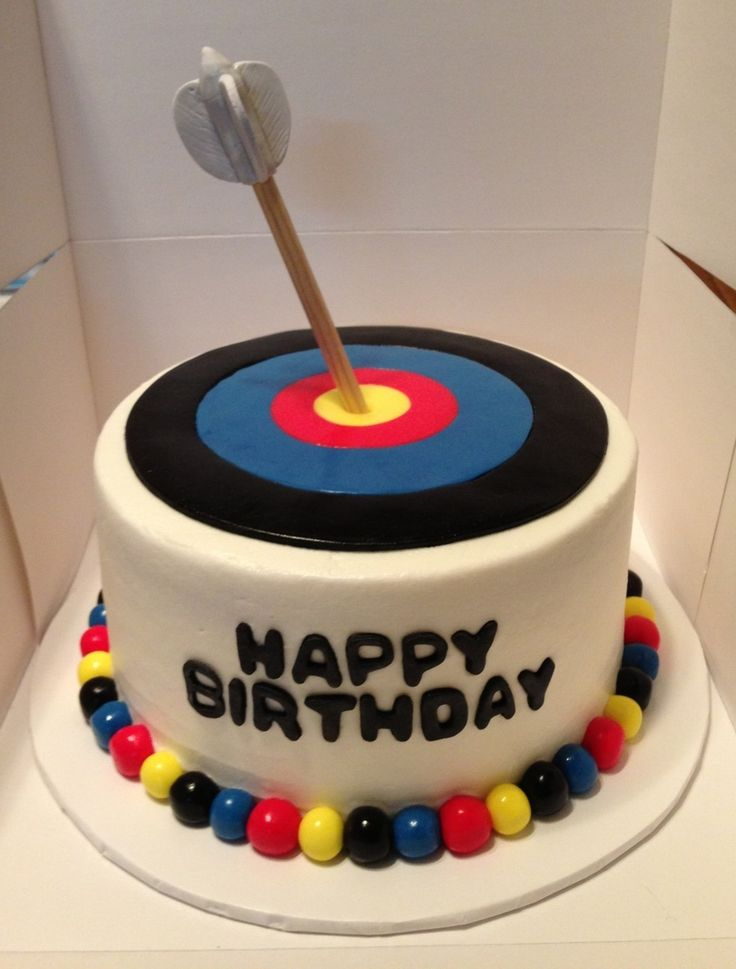 Archery Target Birthday Cake  on Cake Central
