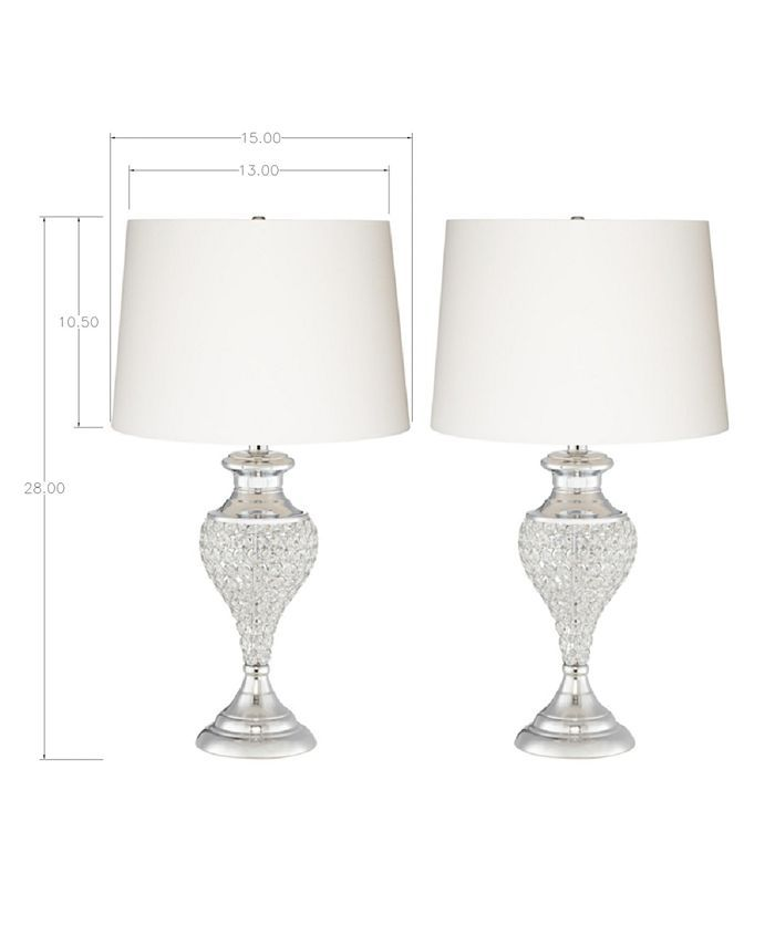 Kathy Ireland Pacific Coast Glitz And Glam Two Pack Table Lamps Reviews All Lighting Home Decor Macy S Glam Table Lamps Glam Lamps Glam Table