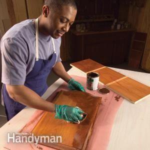 Cómo mancha de madera uniformemente sin conseguir Manchas y manchas oscuras   El Manitas Familia