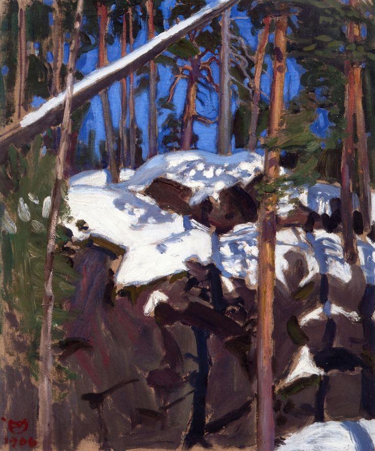 Spring Sun at Konginkangas Akseli Gallen-Kallela - 1906