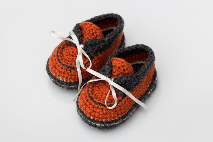 READY TO SHIP, Crochet Baby Shoes, Fall, Baby Shoes, Unisex Baby…