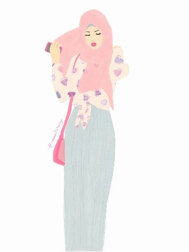 Hijab sketch for today #hijabfashion #hijabsketches #illustration #sketchbook #drawing #illustration