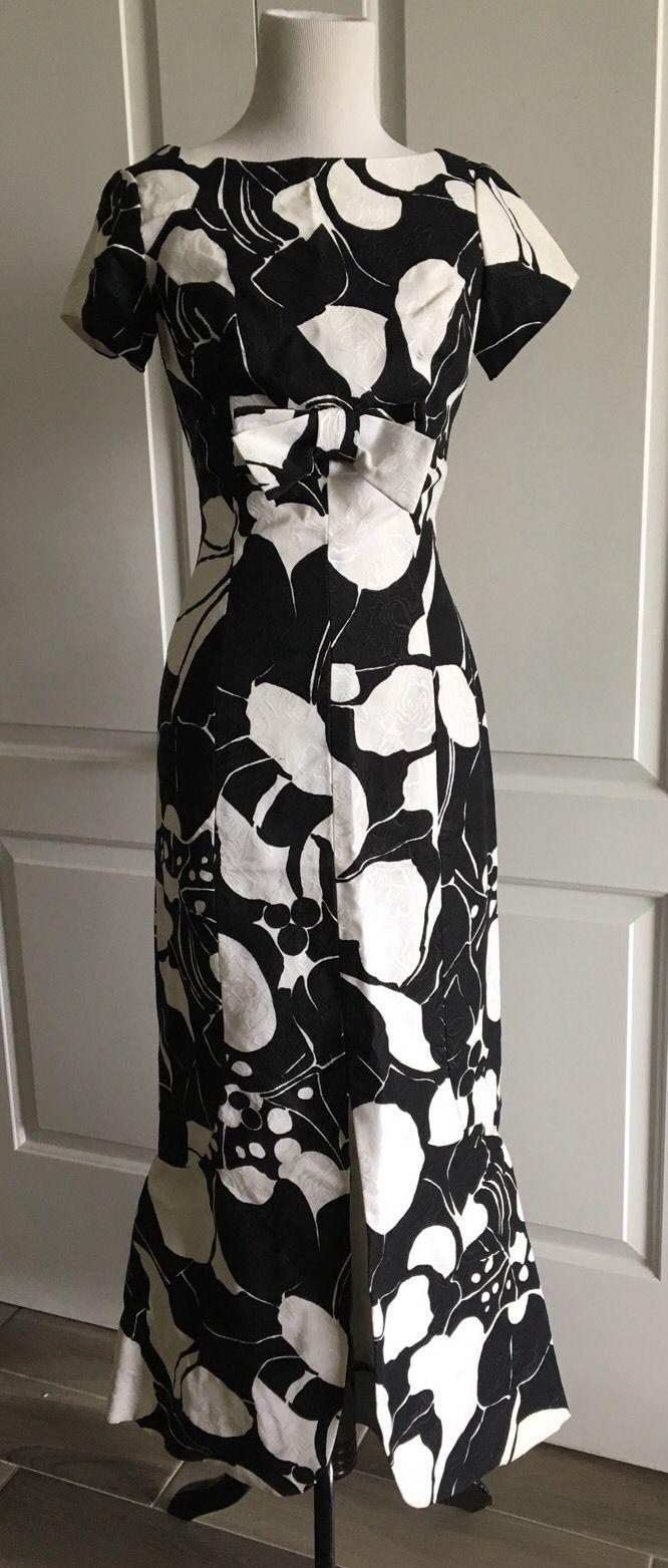 Vtg S. Eisenberg Mod Maxi 60s Full Length Floral Garden Party Dress   eBay