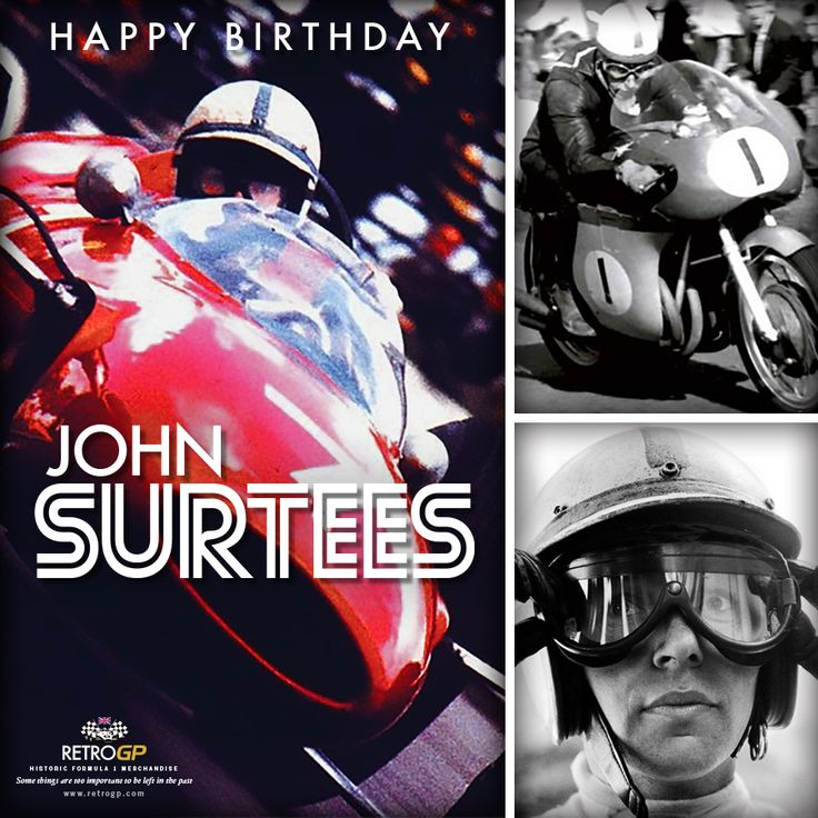 Happy 81st Birthday to the legend that is John Surtees. After winning 7 world championship titles on 2 wheels...he thought he'd set himself a new challenge on 4. And the rest, as they say, is history!