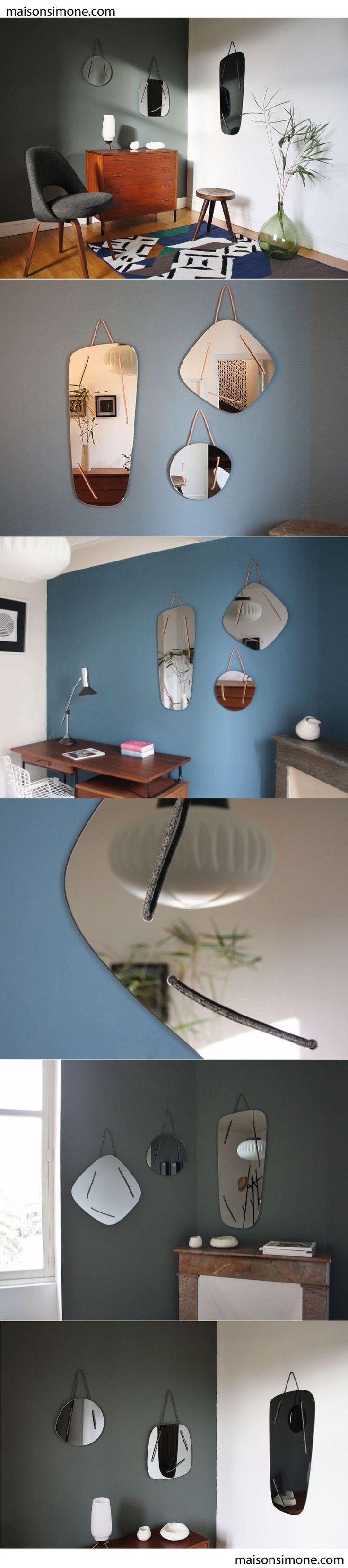 Triptyque de miroirs disponibles sur maisonsimone com intérieur home miroir design