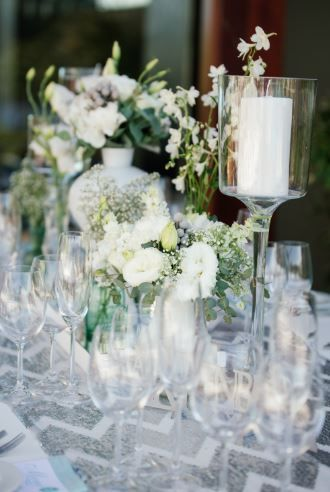 White, silver and mint wedding table decor done by Jade Customised Events  ~ Image Property of Darren Bester Photography