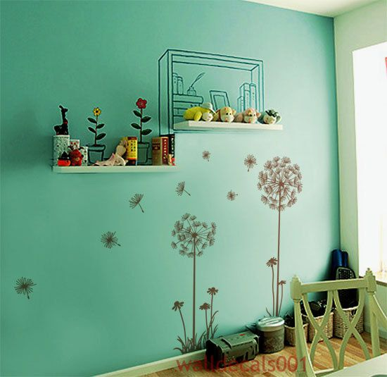 Wall Decals Wall Stickers Graphic Art Dandelions by walldecals001, $35.00Sewing Room, Guest Room, Dandelions Decor, Dandelions Wall, Mud Rooms, Wall Decal, Nursery Decor, Alexis Room