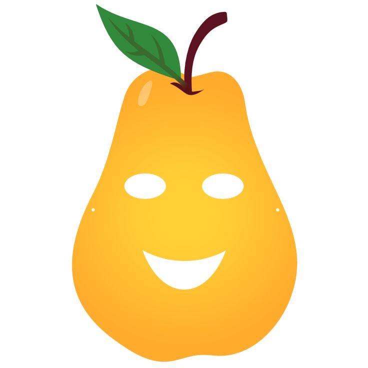 Fruity party masque enfant poire t l charger nos - Clipart bricolage ...