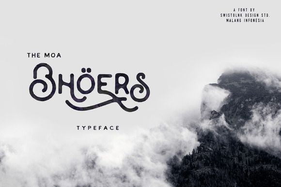 Moabhoers Typeface by Swistblnk Design Std. on @creativemarket. Price $12 #displayfonts #handwrittenfonts #lettering