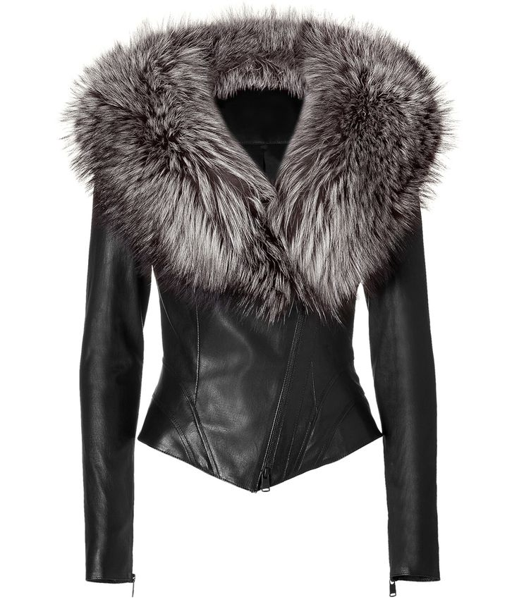 Best 25  Leather jacket with fur ideas on Pinterest | Leather fur ...