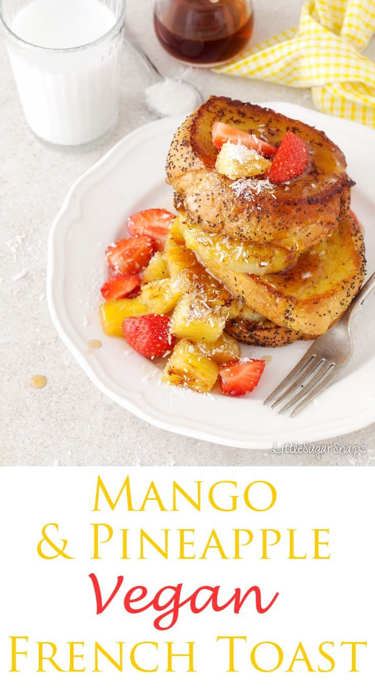 The 25 best vegan french toast ideas on pinterest healthy tropical vegan french toast is a dazzling plateful of happy breakfast food stacks of yellow ccuart Gallery