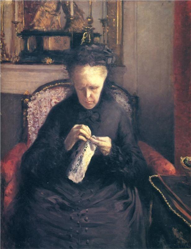Portrait of Madame Martial Caillebotte, 1877  Gustave Caillebotte