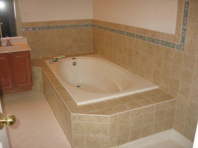 Bathroom Tub Deck Ideas : Best images about beach cottage baths on