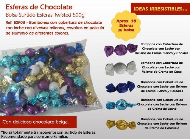 Aprenda acerca de nuestras esferas tienen una cobertura de chocolate y diferentes rellenos.
