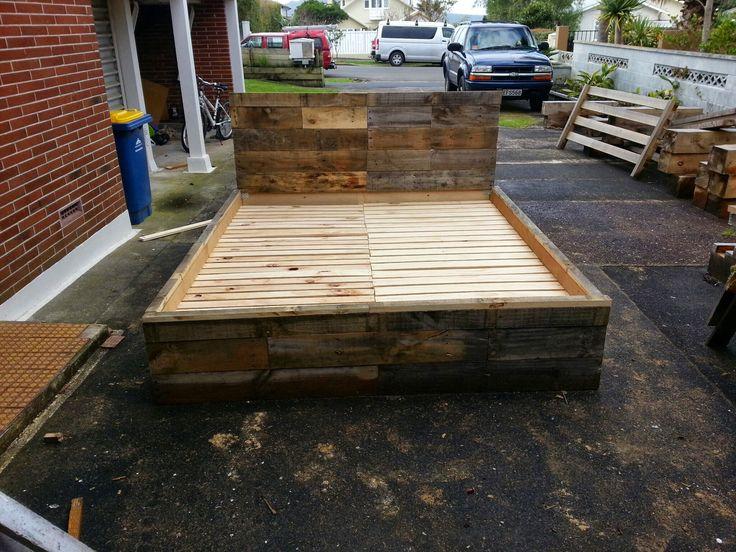 super king size pallet bed frame blackleg woodworks pinterest pallet bed frames bed frames and pallets - King Bed Frame Wood