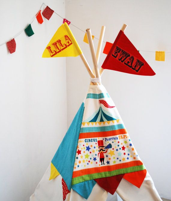 Circus play house teepee for children's by wildthingsdresses