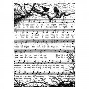 Crafty Individuals CI-309 - 'Singing Merrily' Art Rubber Stamp, 74mm x 100mm