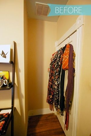 Tension rods also make easy scarf hangers.   52 Meticulous Organizing Tips To Rein In The Chaos