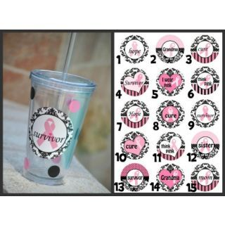 Breast Cancer Awareness Tumblers. We love our moms, wives, sisters, girlfriends, daughters. Honor us all. mrsmckenziesmonograms.com
