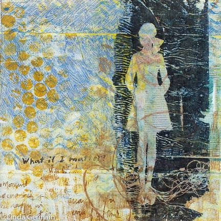 printmaking without a press with Linda Germain: Why gelatin print on tissue paper?